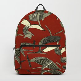 just whales red Backpack