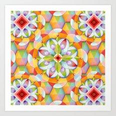 BigTop Rainbow Mandala Art Print