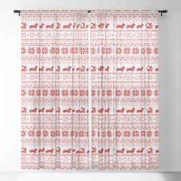 Love, Joy, Peace, Corgis | Humorous Dogs Christmas Pattern Sheer Curtain