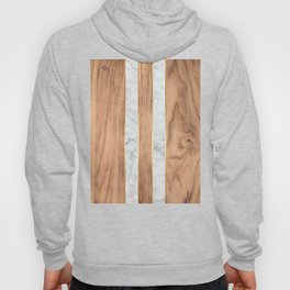 Wood Grain Stripes - White Marble #497 Hoody