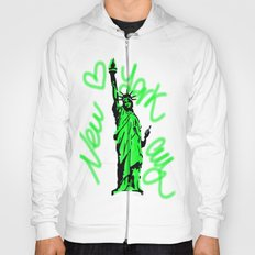 New York City Neon Green Hoody