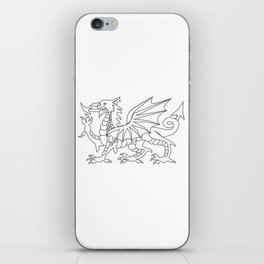 Welsh Dragon Outline iPhone Skin