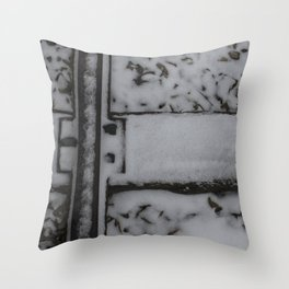 Snowy Traintracks Throw Pillow