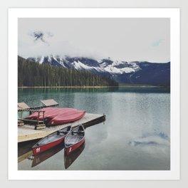 Canoes on the Lake Art Print