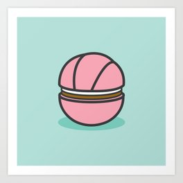 Cream Puff (Strawberry) Art Print