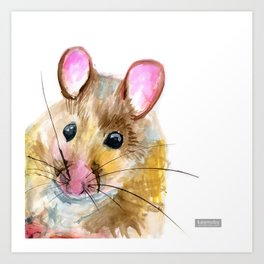 Inky Mouse Art Print
