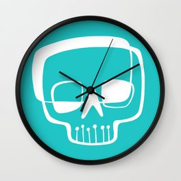 Mid-Mod Skull Wall Clock