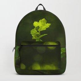 Green leaf and summer light bokeh Backpack
