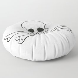 Skull and bones 3 Floor Pillow