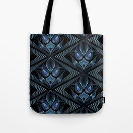 Art Deco 37. Black-blue satin . Tote Bag