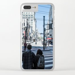 San Francisco street lines Clear iPhone Case