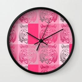 Tiger pink Wall Clock