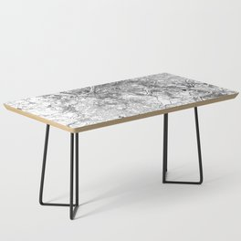Pittsburgh White Map Coffee Table