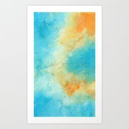 Orange & Blue Galaxy Art Print