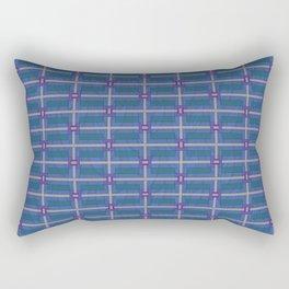 Bold and Blue Modern Rectangular Pillow