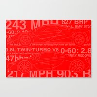 f1 Canvas Prints featuring F1 &P1 by Jake Wetherill