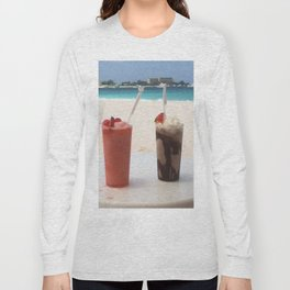 More drinks on the beach please! Long Sleeve T-shirt