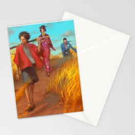 Searching of the Sunflower Samurai Stationery Cards