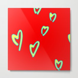 Valentine's Day Home Decorations - Hearts Of Love - 2021 Trending Art 2k Metal Print
