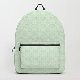 Vintage chic abstract green floral mandala gradient Backpack