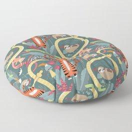 Rain forest animals 003 Floor Pillow