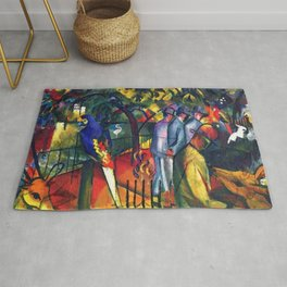 Hyacinth Macaw and Zoological Garden by August Macke Rug
