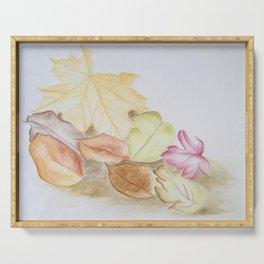 Blätter im Herbst Serving Tray