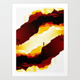 Red Isolation Art Print