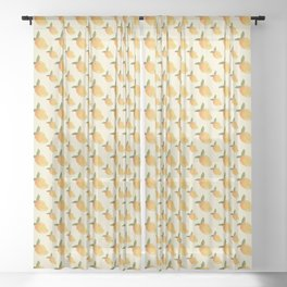 Nostalgic Yellow Mangoes Sheer Curtain