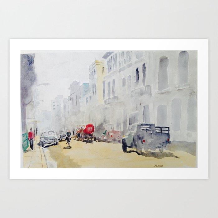 Hazy Havana Street Art Print