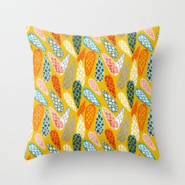 Colored Cone pattern Throw Pillow