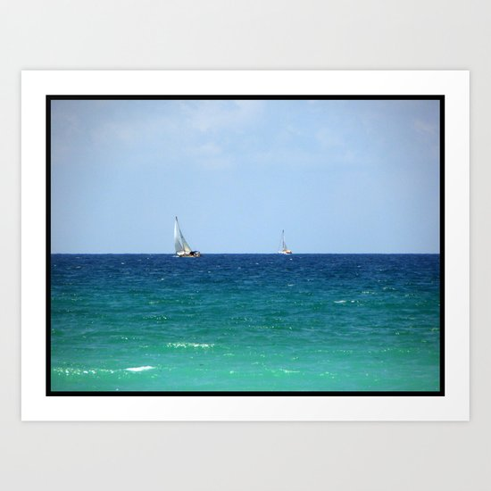 Sailboats! Art Print