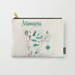 Minnesota State Love Carry-All Pouch