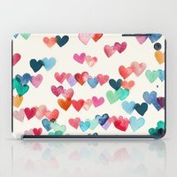 girly iPad Cases featuring Heart Connections - watercolor painting by micklyn