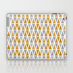 Golden and silver triangles Laptop & iPad Skin