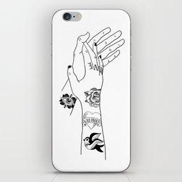Inked Hands iPhone Skin