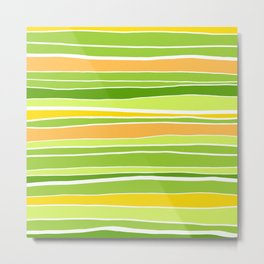 Spring Stripes Abstract Metal Print