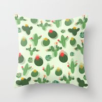 succulent Throw Pillows featuring Succulent by Kakel
