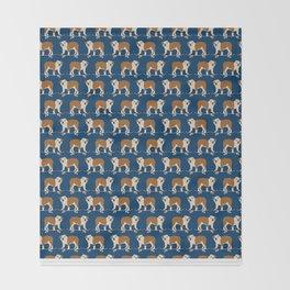 English Bulldog skateboard funny pet portrait cute gift for dog person dog lover bulldog owner gifts Throw Blanket