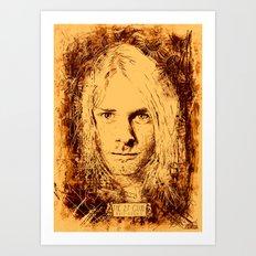 27 Club - Cobain Art Print