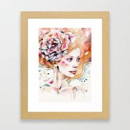 As Delicate As A Wildflower (female portrait) Framed Art Print