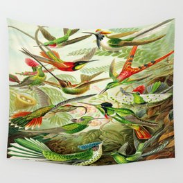 Kunstformen der Natur (Art Forms in Nature)a book of lithographic and halftones. Hummingbirds Wall Tapestry