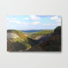 Sun and Shade on Wild Letchworth Metal Print