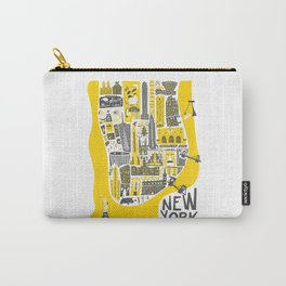 Manhattan New York Map Carry-All Pouch