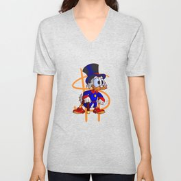 Uncle Scrooge - Ducktales Unisex V-Neck