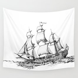 sailing ship . Home decor Graphicdesign Wall Tapestry