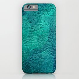 Mint Color and Turquoise Water Surface from Beautiful Sea Lagoon iPhone Case