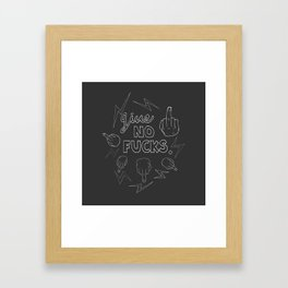 Give No F*cks! Framed Art Print