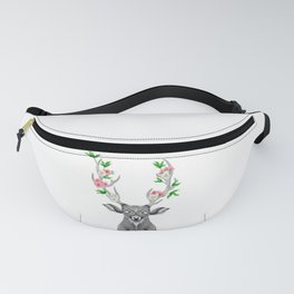 FLORAL STAG Fanny Pack