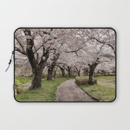 Row of cherry blossom trees Laptop Sleeve